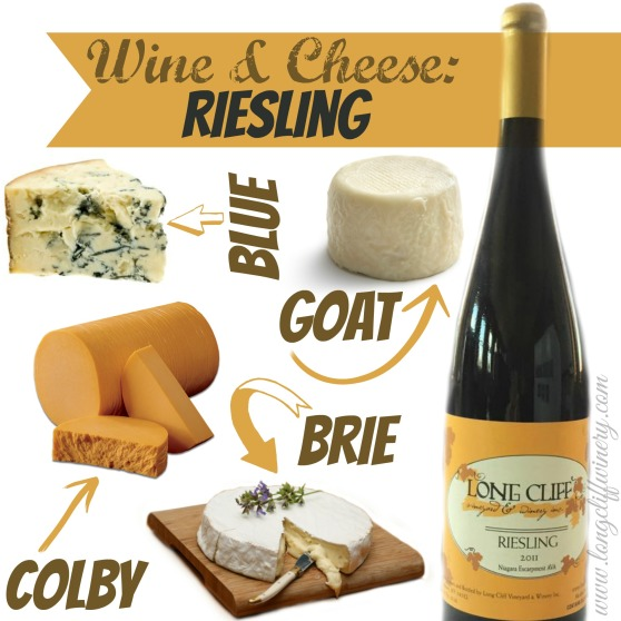 Riesling wine and cheese