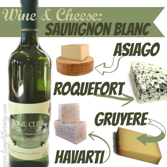Sauvignon Blanc wine and Cheese